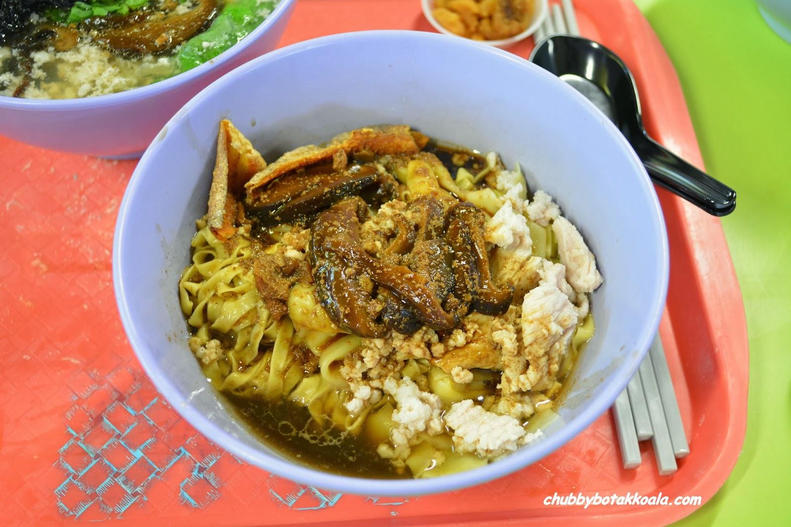 Chubby Botak Koala Singapore Food Blog Travel And Lifestyle Ah Kow Mushroom Minced Pork Mee Legendary Bak Chor Mee