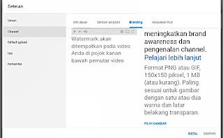 Upload gambar watermark video