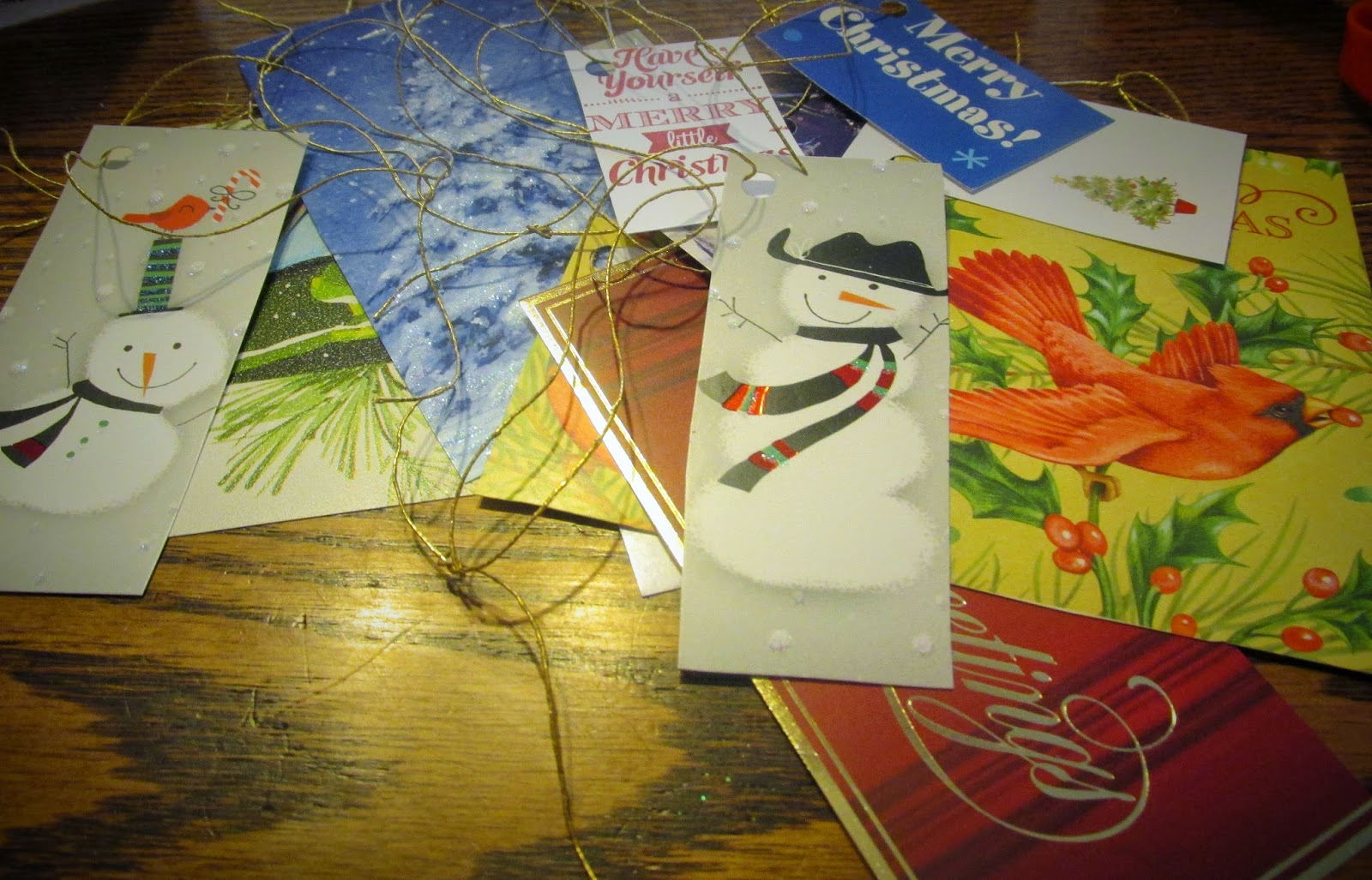 Homemade Gift Tags from Christmas Cards