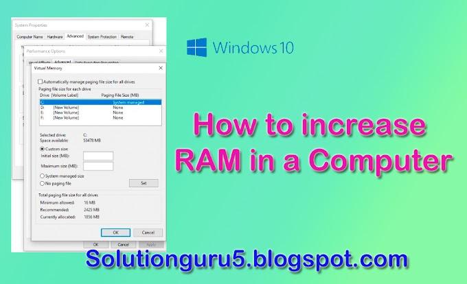Apne Computer Ki Kam Ram Ko Badhayein.