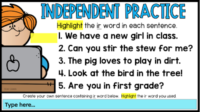 Digital Phonics Lessons Slides for first grade and second grade