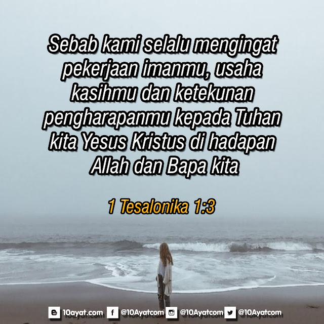 1 Tesalonika 1:3
