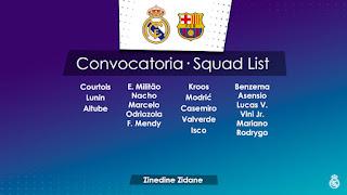 Los Convocados para enfrentar al Barcelona