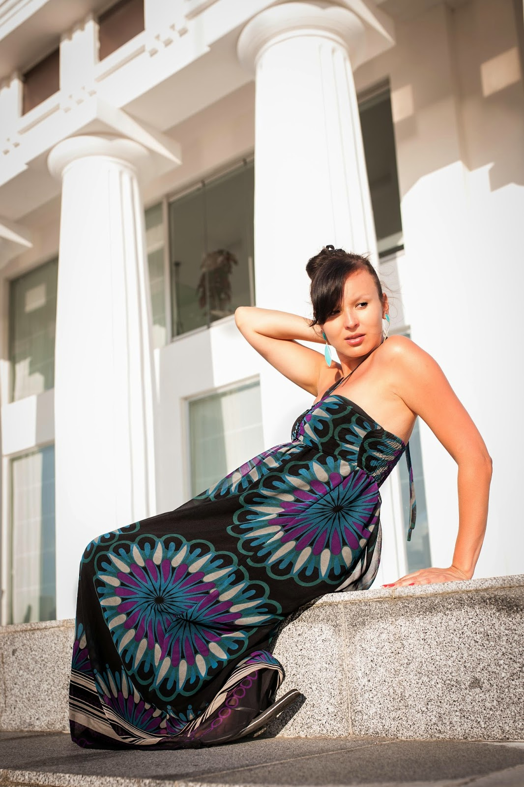Fotografia, Gruzja, Batumi, holidays, sukienka maxi, secondhand, SH