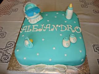 Tarta Baby Shower de Alejandro