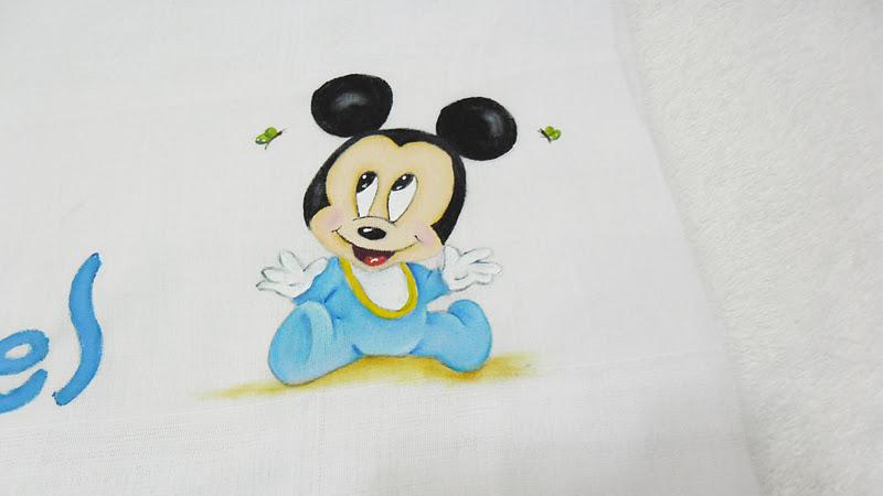 Coisas Da Nil Pintura Em Tecido Oi Mickey