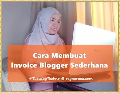 cara membuat invoice blogger sederhana
