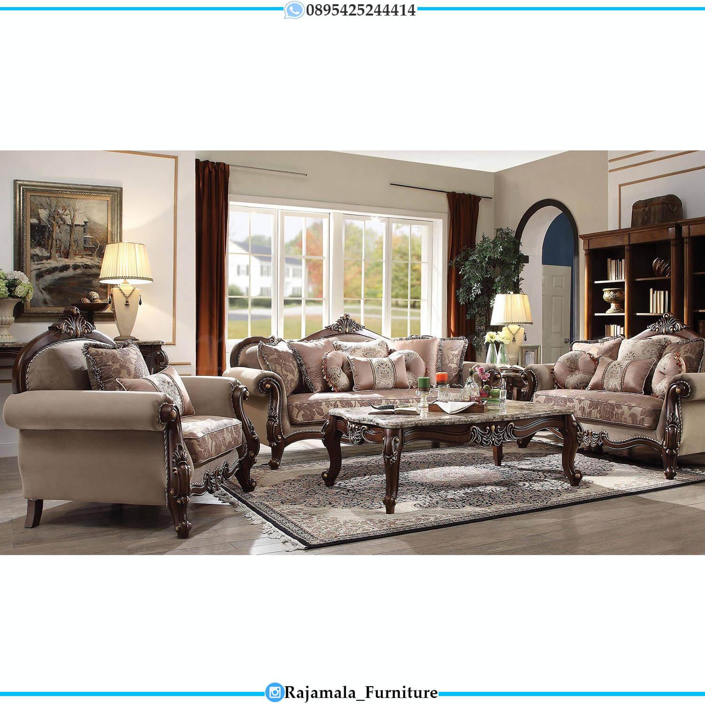 Set Sofa Tamu Mewah Ukir Jepara Glamorous Style Palace RM-0496