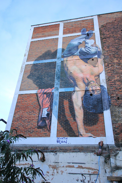 Street Art Mural By Argentinian Painter Martin Ron In East London, UK. 5