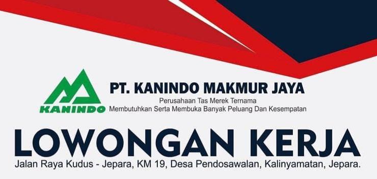 Loker Jepara Terbaru di PT. Kanindo Makmur Jaya di Bagian Sewing & Inspect