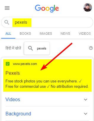 search-pexels-in-google-search-engine