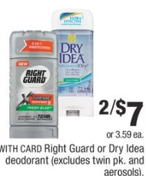 Right Guard  cvs deals