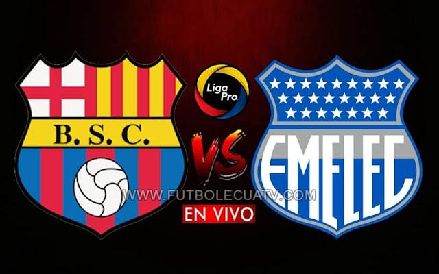 Barcelona SC y Emelec se enfrentan en vivo a partir de las 18:30 horario local, transmitido por GolTV Ecuador por la jornada siete del campeonato ecuatoriano, en una edición más del Clásico del astillero a efectuarse en el Estadio Monumental. Teniendo como juez principal a Guillermo Guerrero.