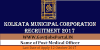 Kolkata Municipal Corporation Recruitment 2017– 53 Medical Officer