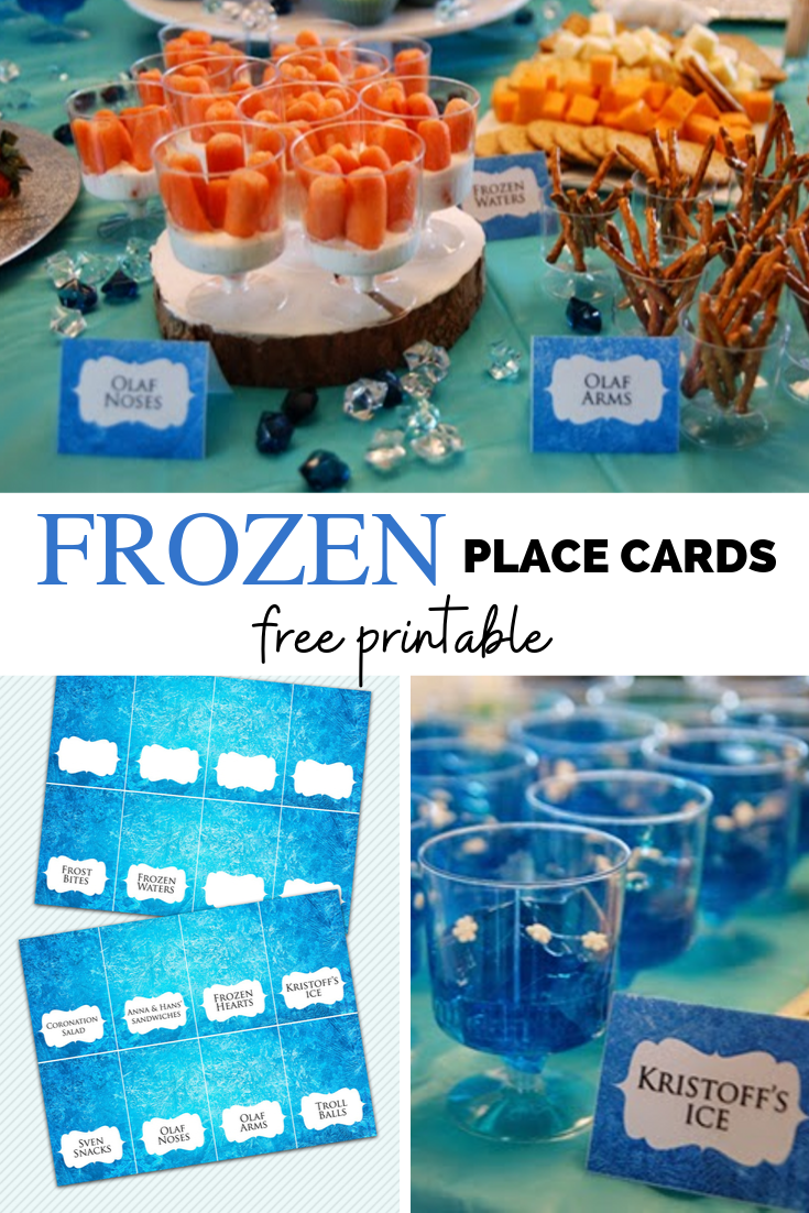 Free Download Disney Frozen Place Cards And Food Tents Rambling Renovators