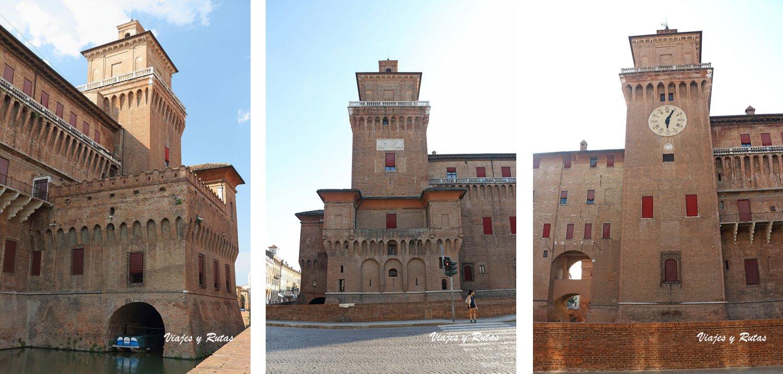 Vistas del Castillo Estense de Ferrara