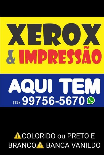 Xerox e Impressão é na Banca Vanildo em Registro-SP