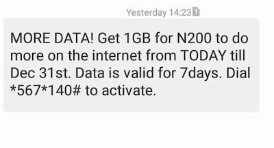 Activate MTN 1GB for N200 Using this Welcome Back Data Alternative