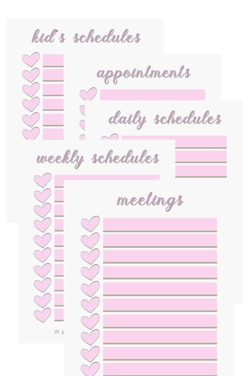 Printable checklists