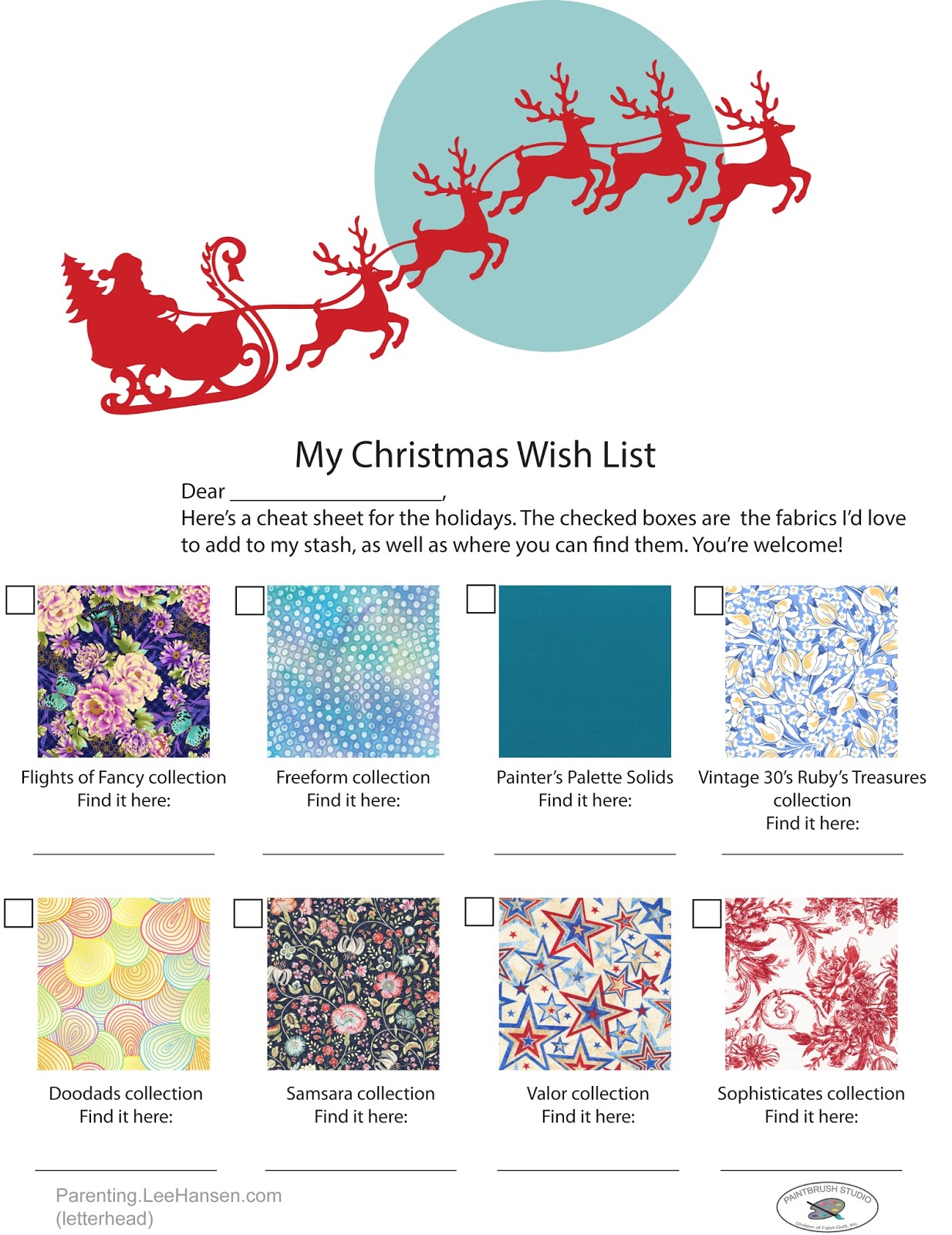 Inspired by Fabric: Holiday Gift Shopping...Simplified!