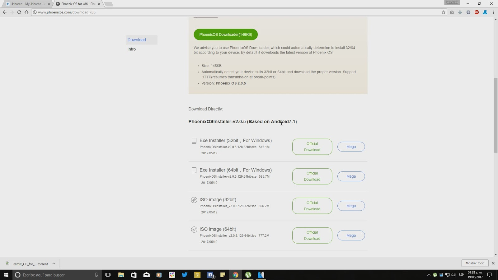 Instalar/Desinstalar Phoenix OS 3 en Disco Duro