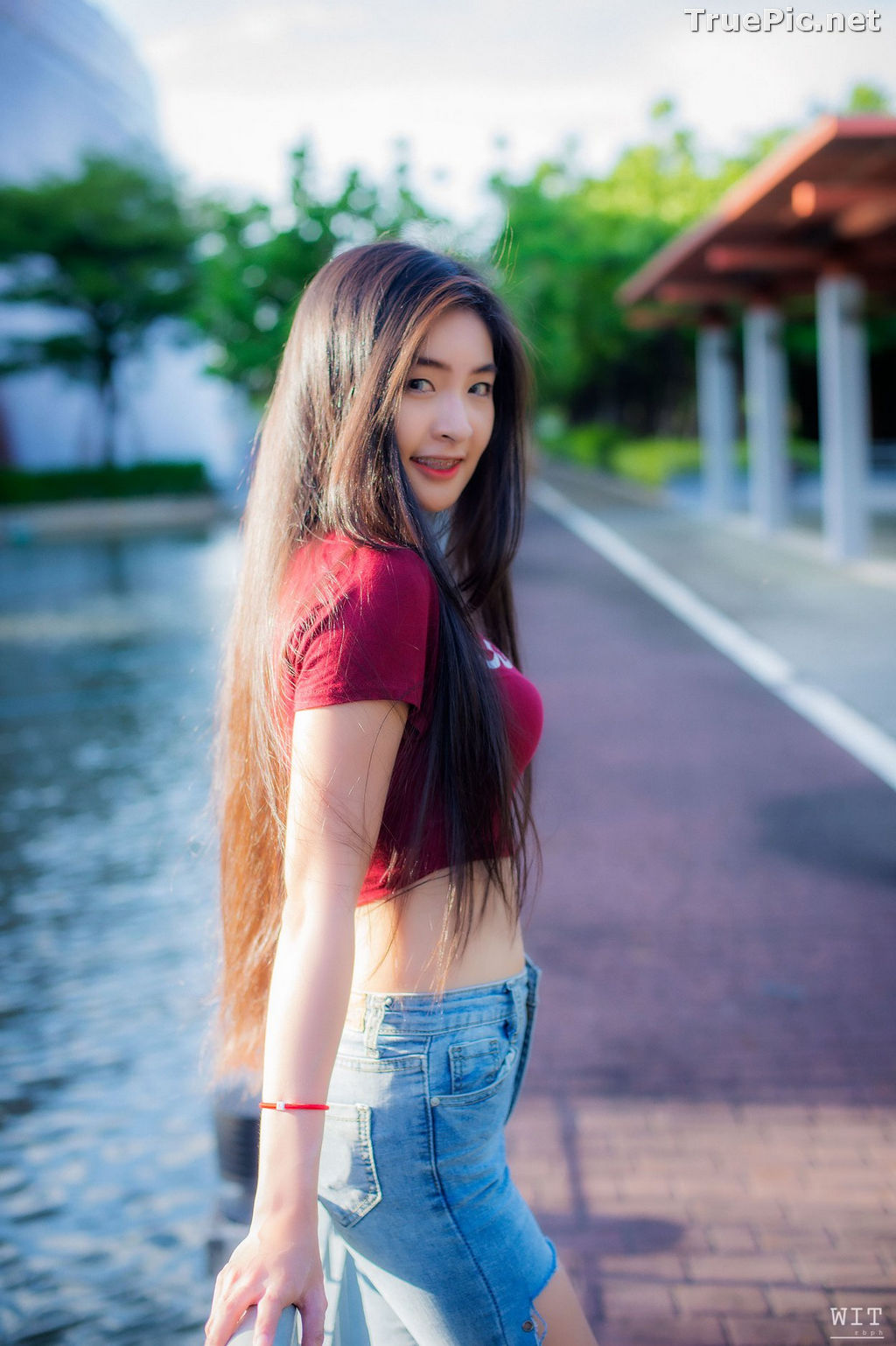 Image Thailand Model - Muay Phinitnan - Supreme Crop Tops and Jeans - TruePic.net - Picture-3