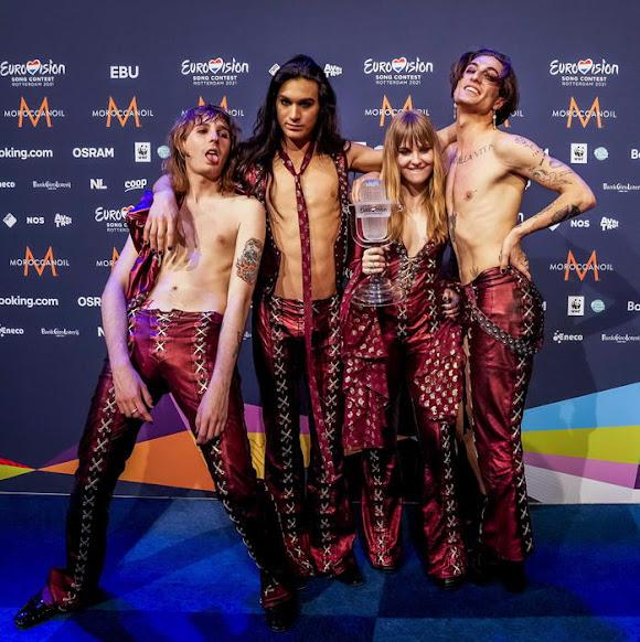 I Maneskin vincono l'Eurovision Song Contest 2021 con il brano Zitti e buoni