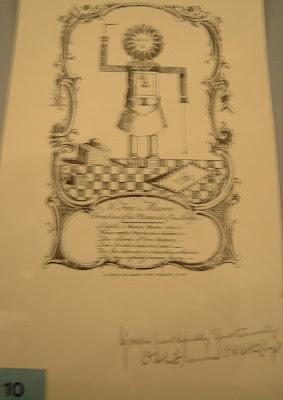 Representação maçônica com símbolos da suástica nazista