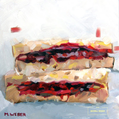 peanut-butter-and-jelly- sandwich-oil-painting-by-merrill-weber
