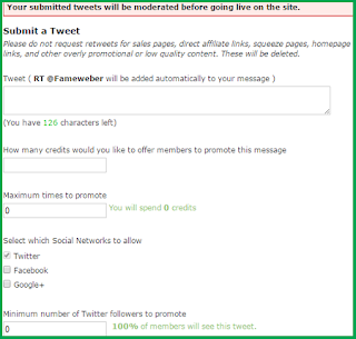 how to submit a post on justretweet