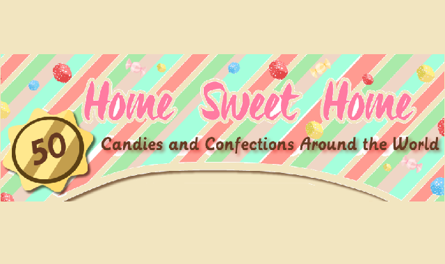 Candies to Satisfy Your Sweet Cravings #infographic