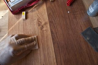 reparar golpes en tarima laminada
