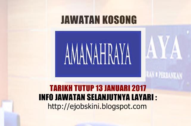 Jawatan kosong Amanah Raya Berhad (ARB) Januari 2017