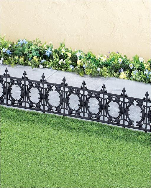 black garden edging fence metal UK