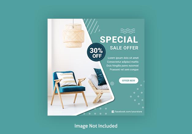 Social Media Furniture Sale Template post banner