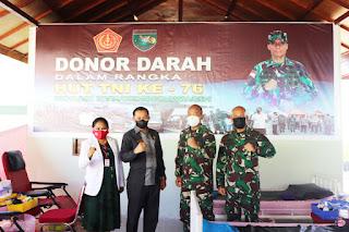 Jelang HUT TNI Ke-76, Kodam XVII/Cenderawasih Gelar Donor Darah