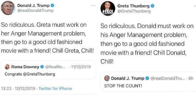 Marah Dengan Perhitungan Suara, Trump Jadi Bulan-bulanan Greta Thunberg