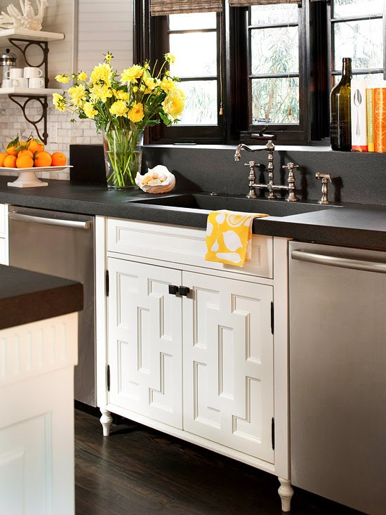 Metal Insets In Kitchen Design