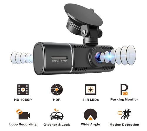 EYETOO CE41 Car FHD Dual Dash Cam with IR Night Vision