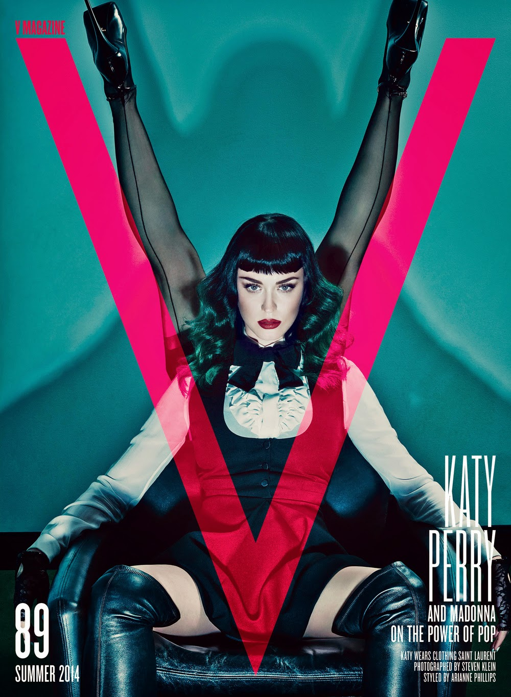 Katy Perry Madonna V Magazine covershoot
