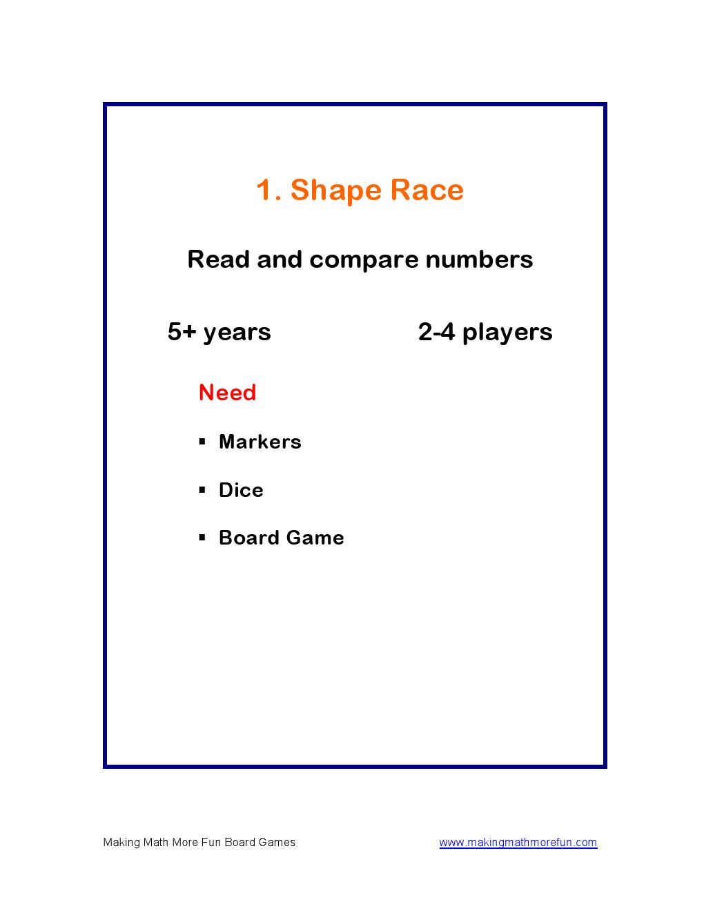 Making Math More Fun Math Board Games for Kids