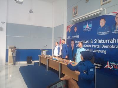 Bandara Radin Intan II kedatangan Wakil Ketua Umum DPP Partai Demokrat Agus Harimurti Yudhoyono yang akrab disapa (AHY)
