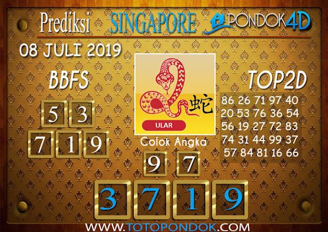 Prediksi Togel SINGAPORE PONDOK4D 08 JULI 2019