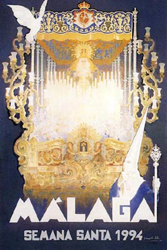 Cartel de Semana Santa 1994, Félix Revello de Toro, Revello de Toro, Pintores Malagueños, Retratos de Revello de Toro, Pintor español, Pintores de Málaga, Pintor Revello de Toro