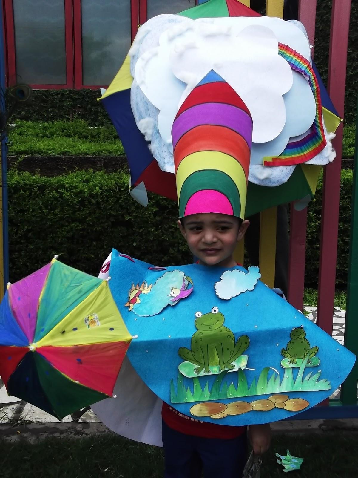 DEWS - The School, Panchkula: Fancy Dress Competition on Rain theme