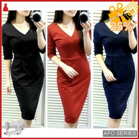 AFO172 Model Fashion Night Dress Modis Murah BMGShop
