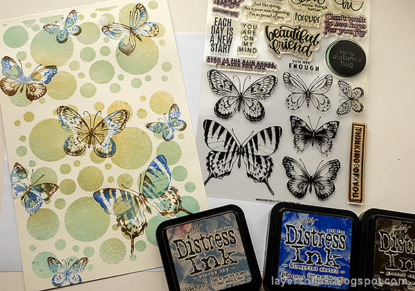 Layers of ink - Beautiful Butterflies Art Journal Page Tutorial by Anna-Karin Evaldsson.