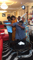 behind the scene photos from eniola badmus house help movie