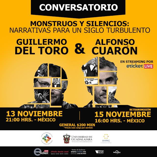 Guillermo del Toro y Alfonso Cuarón presentarán un conversatorio juntos en streaming