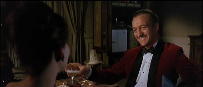 d4d5ef9452aa ... considered 'purist' formalwear, but for some reason I really like the  red dinner jacket worn by David Niven as Sir Charles Lytton in The Pink  Panther.